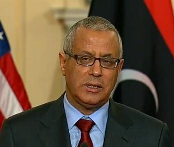 صورة رئيس الحكومة الليبي يسرق الأضواء من ليدي غاغا بحركة اختطافه المفبركة