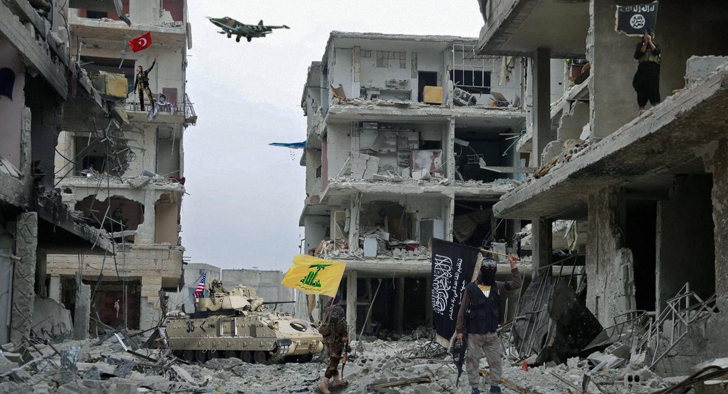 صورة قيادات كردية تستنكر عدم مجيء النظام السوري الكلب المحتل لإنقاذها
