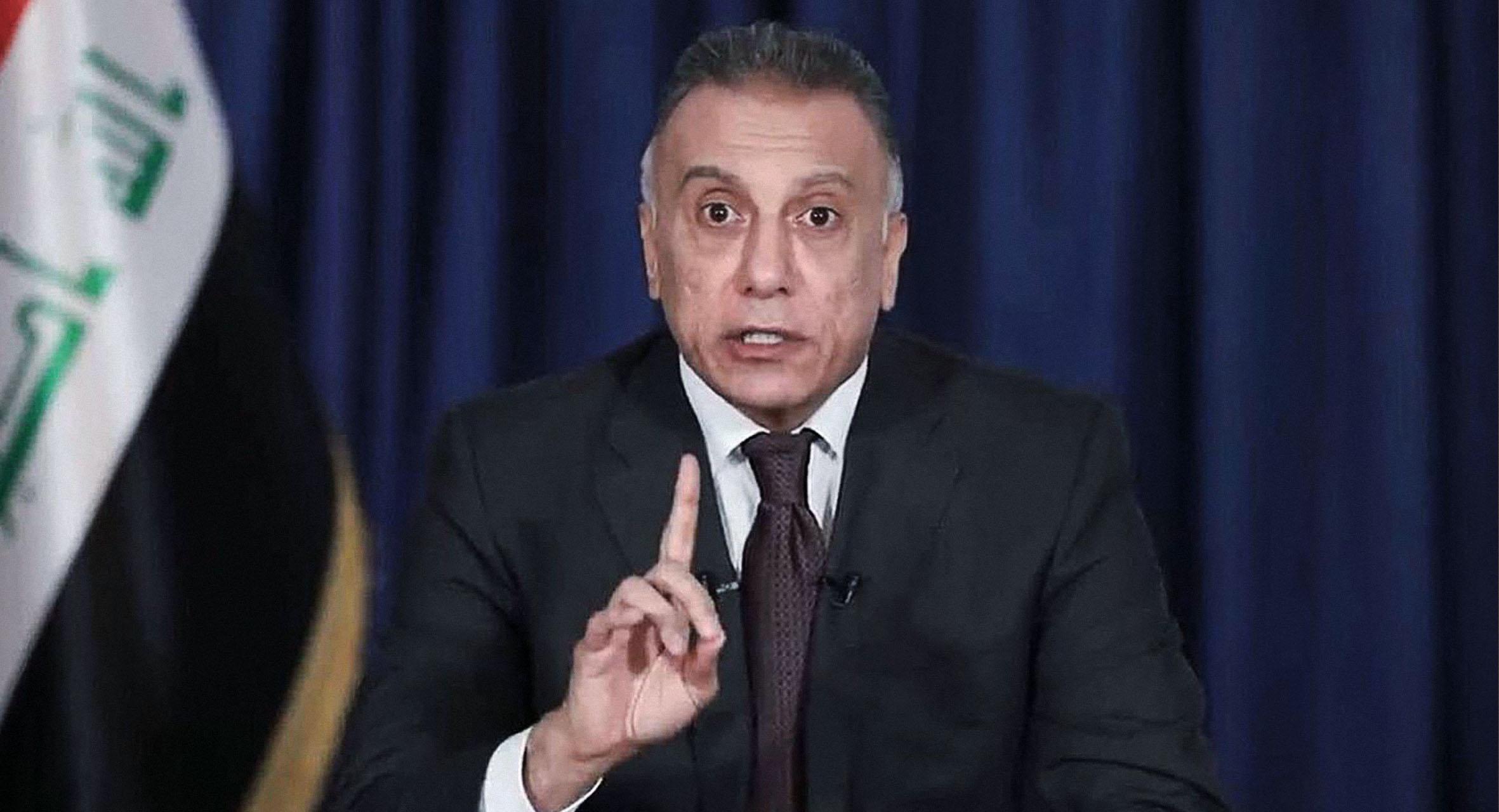 صورة رئيس الوزراء العراقي يتعهد بعدم تكرار انفجارَي بغداد بالذات ولكنه لا يضمن عدم وقوع انفجارات أكبر أو أصغر