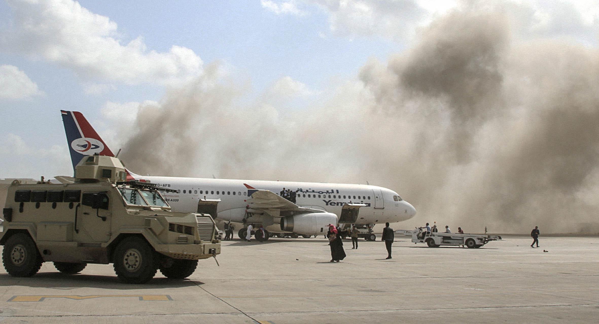 صورة تحقيقات تؤكد أن تفجير مطار عدن جاء لأن ماذا ينقصه عن باقي اليمن كي لا ينفجر