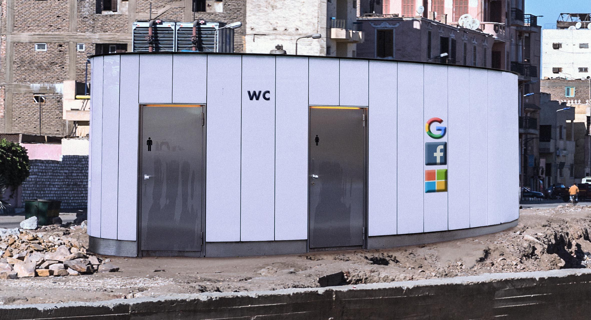 صورة فيسبوك وغوغل ومايكروسوفت يشتركون ببناء مراحيض عامة في الدول النامية تعويضاً عن الضرائب