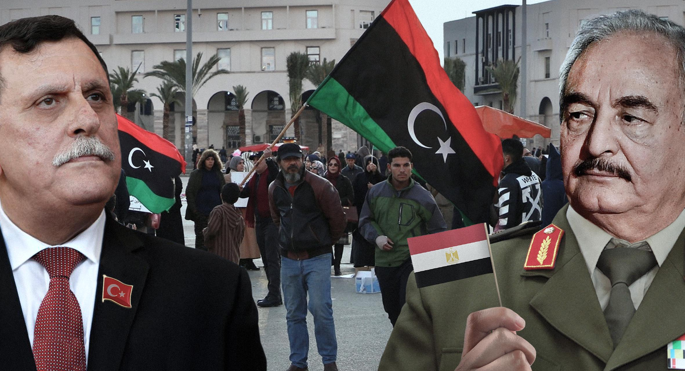 صورة السراج يفوّض تركيا وحفتر يفوّض مصر والليبيون يفوّضون أمرهم لله