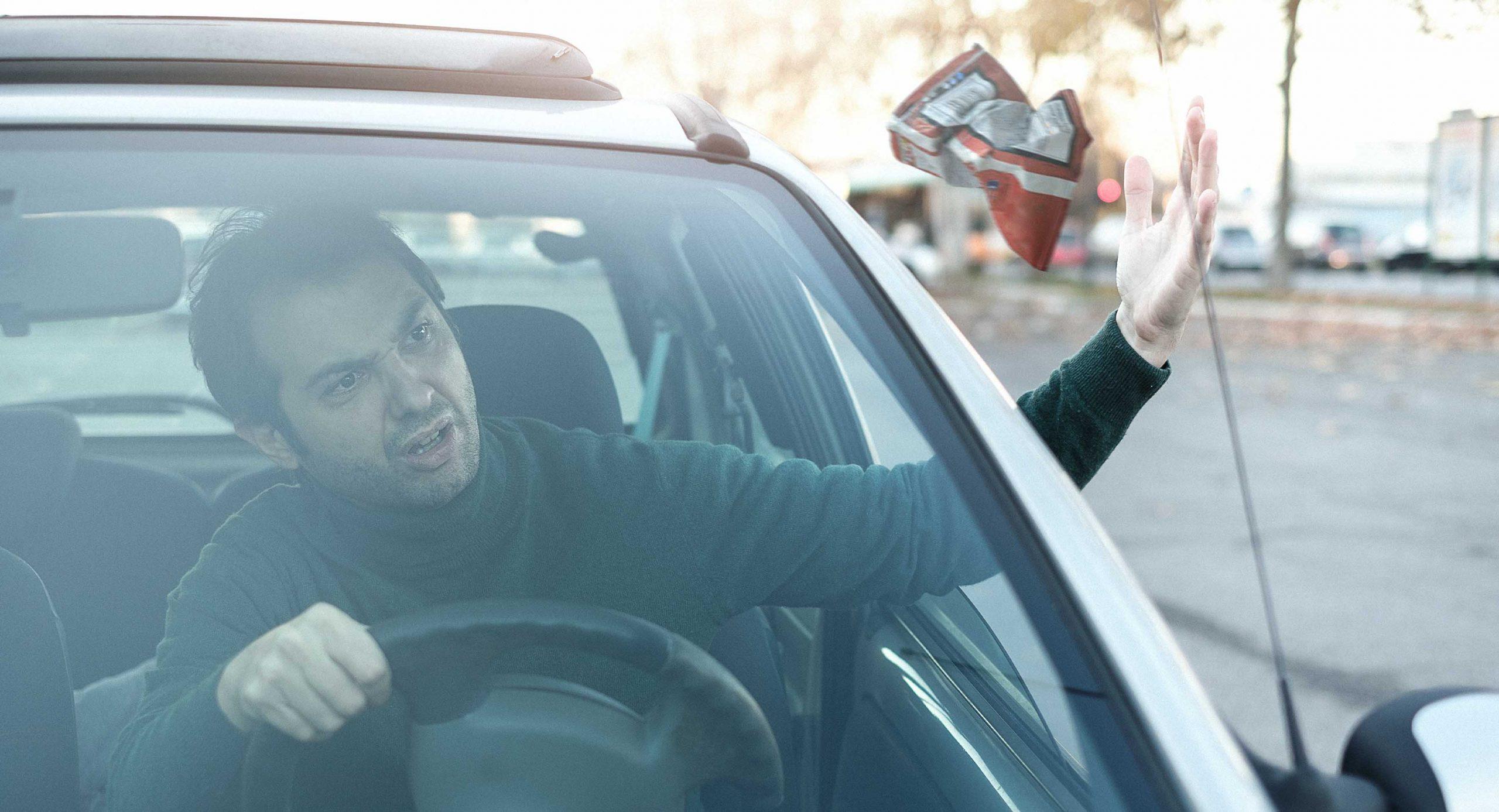 صورة مواطن يلقن الحكومة الفاسدة درساً برمي كيس شيبس من نافذة سيارته لأنها تستحق ذلك وأكثر