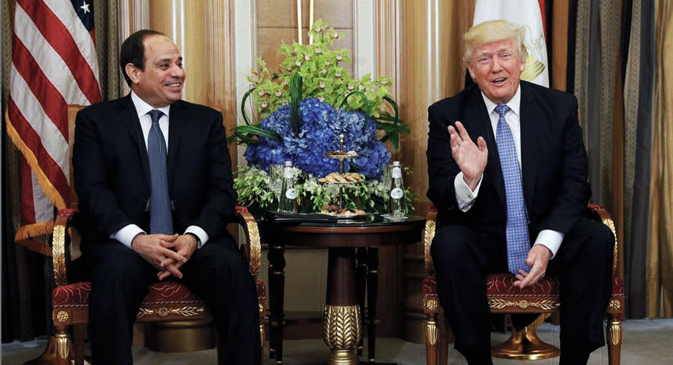 صورة ترامب يؤكد عدم حاجة ديكتاتوره المفضل للقلق على وفاة مصري أمريكي ويمكنه قتل المزيد إن أراد