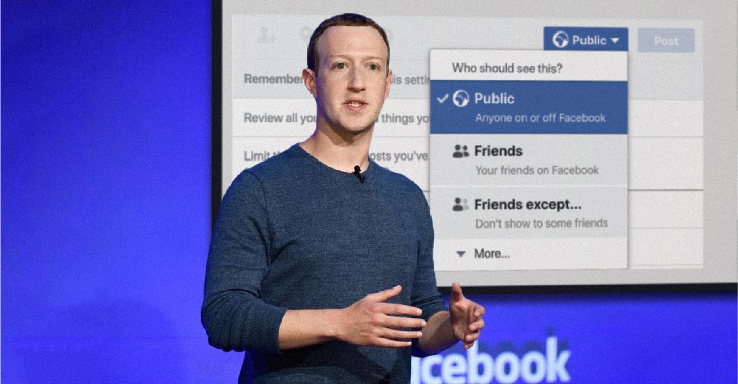 """صورة فيسبوك يحثُّ مستخدميه على عرض معلوماتهم بوضعية """"public"""" كي لا يتركوا للمخترقين شيئاً يستفيدون منه"""