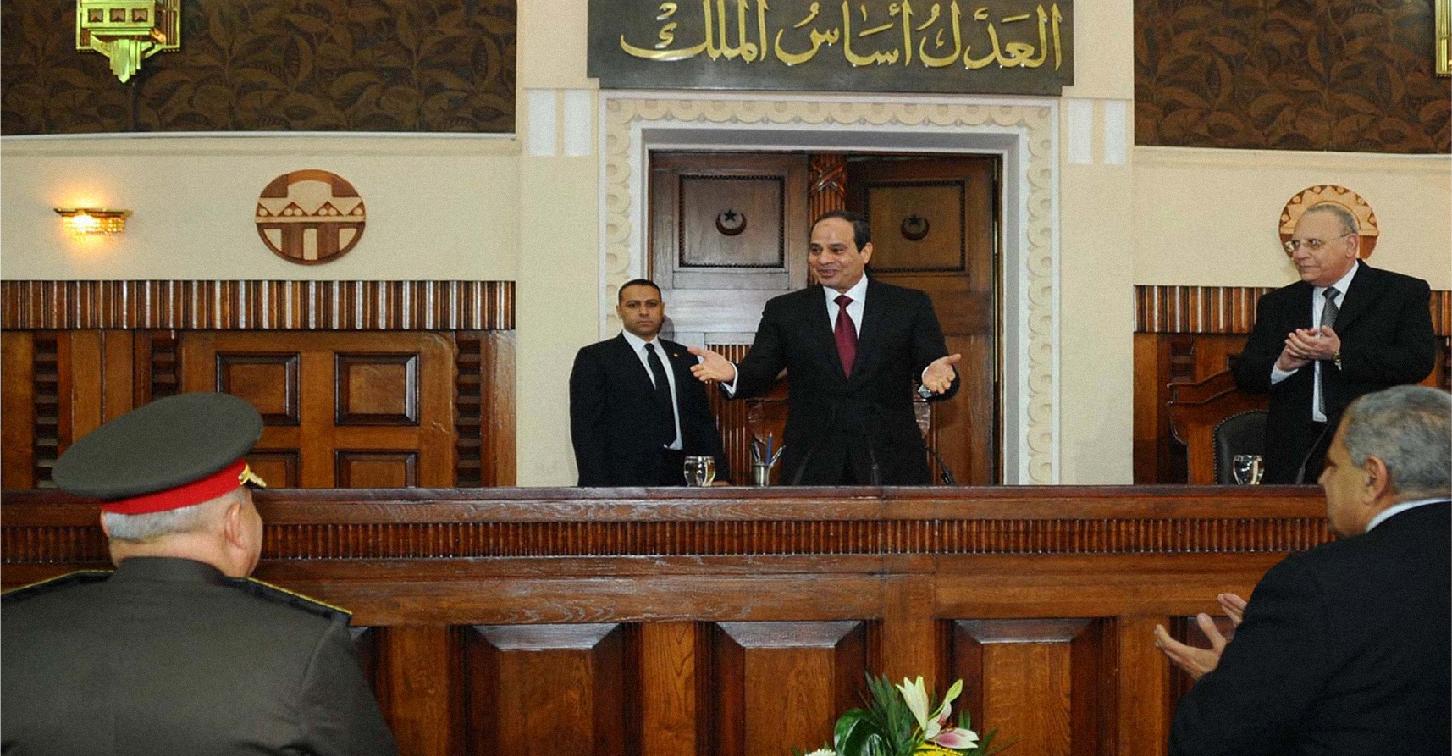 صورة القضاء المصري يأمر باستكمال مجزرة رابعة