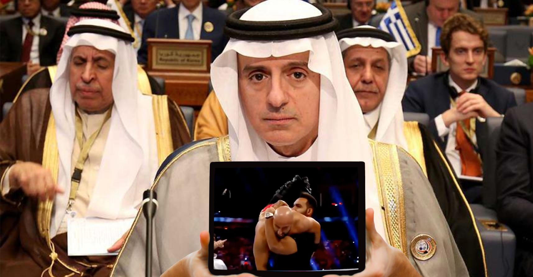 صورة السعودية تطالب إيران بالانسحاب من سوريا ووقف دعم الحوثيين وحزب الله بعدما بطح مصارعوها مصارعَيْن إيرانيين