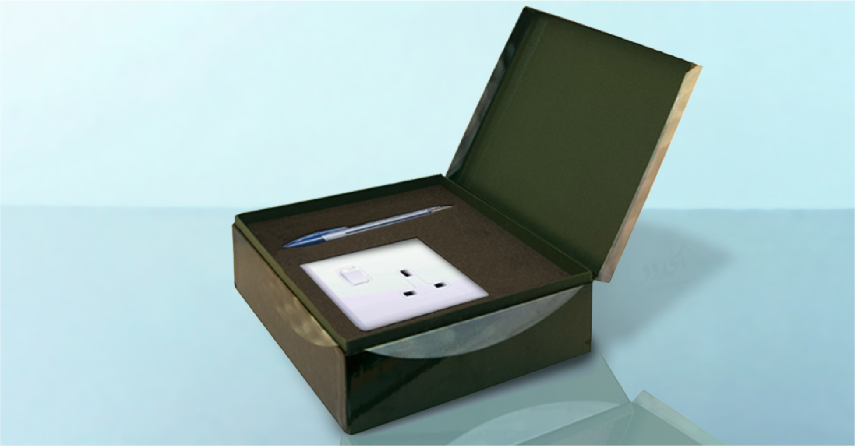 صورة أخيراً: شركة تطرح مقبساً ثلاثيّاً مزوّداً بقلم حبر جاف