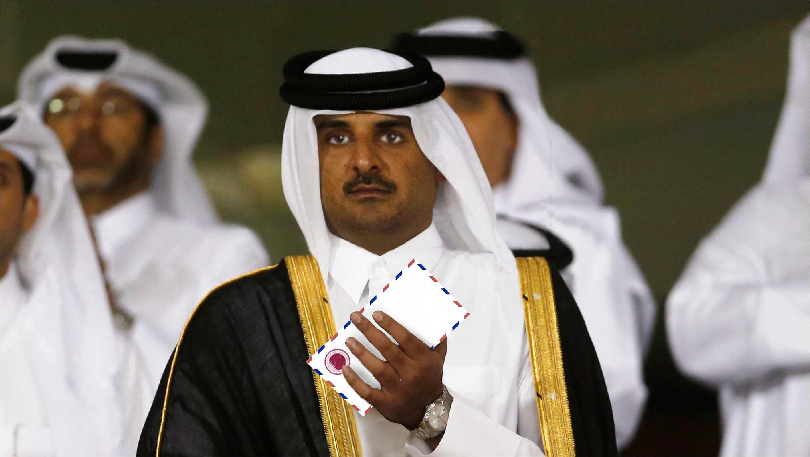 صورة قطر تقدم لائحة مطالبها مقابل موافقتها على فك الحصار عنها
