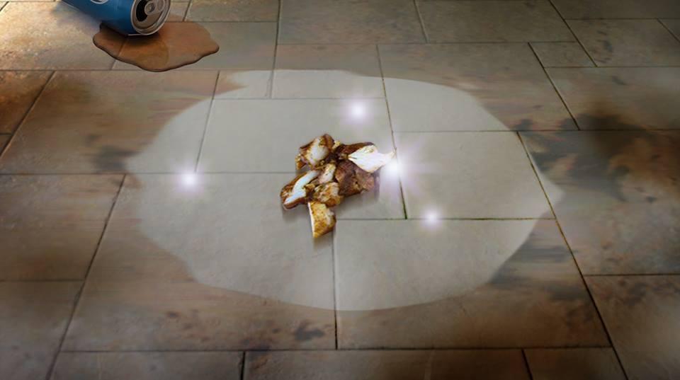 صورة وقوع قطعة شاورما على أرضية مطعم يقضي على ٩٩٪ من البكتيريا حولها