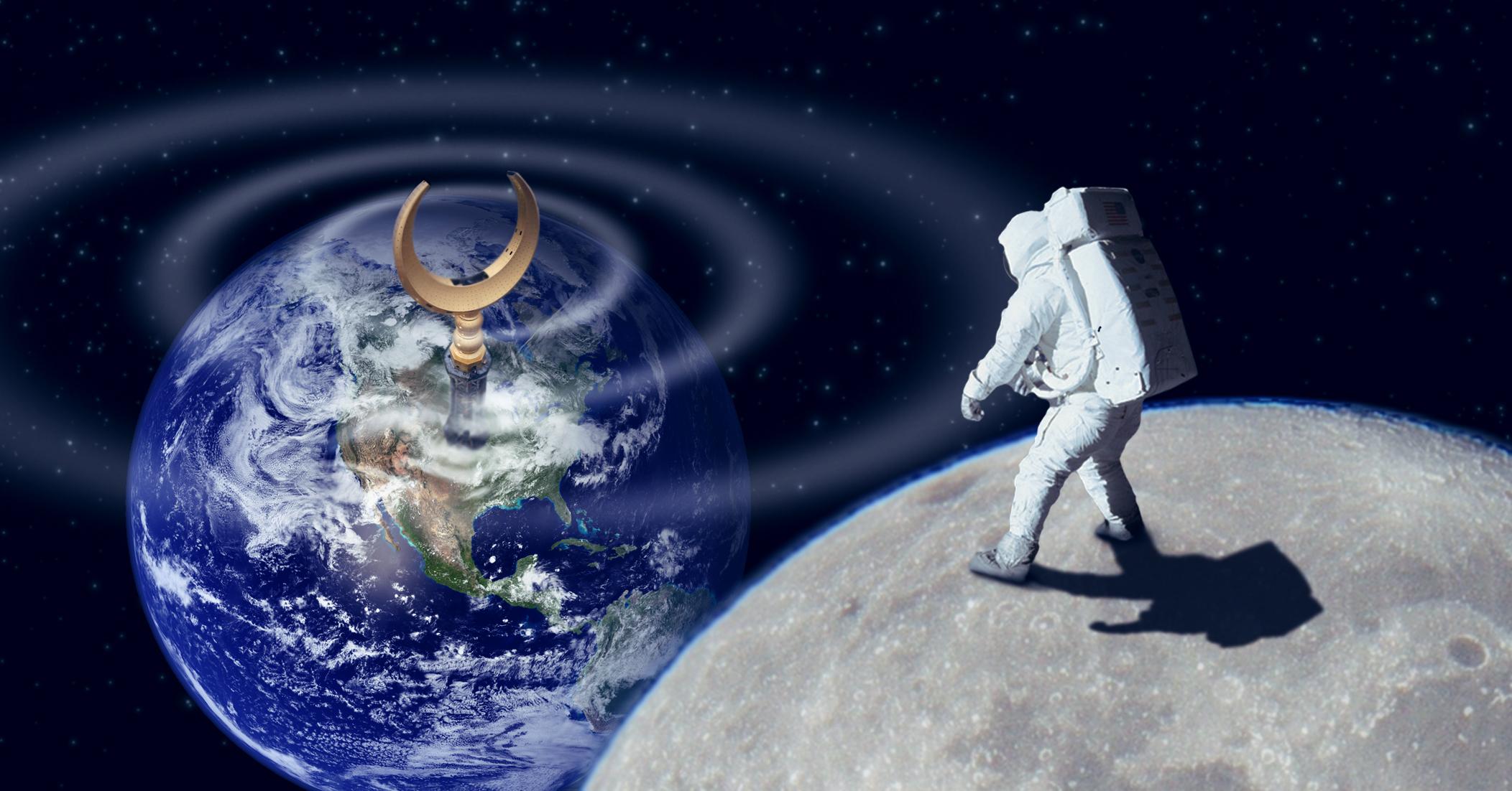 صورة قياس الصوت الصادر من مسجد يثبت أن آرمسترونغ سمِع صوت الأذان على سطح القمر بالفعل