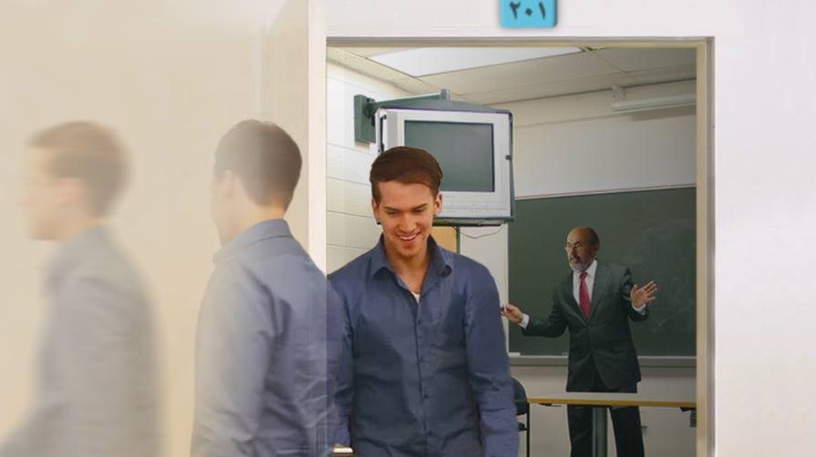 صورة اختفاء طالب جامعي بعد خروجه من القاعة للحمّام