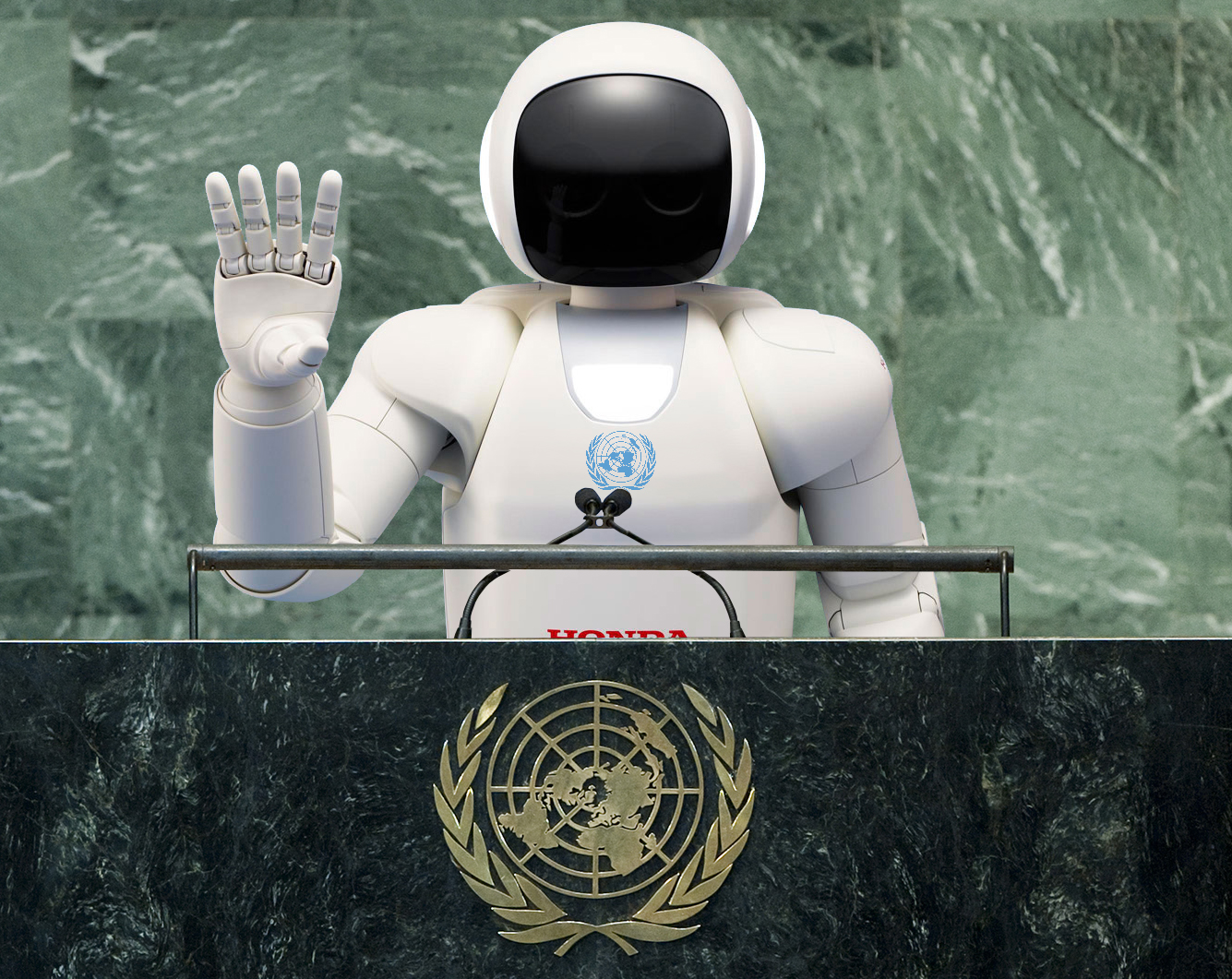 صورة شركة هوندا تصنع روبوتاً بسيطاً كبديل للأمين العام للأمم المتحدة